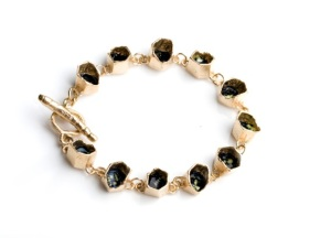 Honeycomb Bracelet gold plated